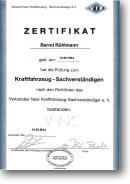 Verband freier Kraftfahrzeugsachverständiger e.V. • Prüfung zum Kraftfahrzeugsachverständigen