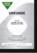 WM Akademie • Weiterbildungsseminar FSA 500-740 - Das Testsystem für Profis
